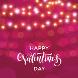 Hearts valentine garland glitter pattern background Royalty Free Stock Photos