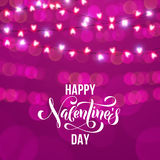 Hearts valentine garland glitter pattern background Royalty Free Stock Image