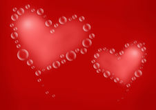 Hearts Valentine Love. Soft Valentine hearts with love Royalty Free Stock Images