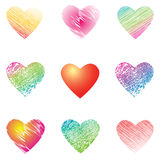 Hearts for valentine's cards. Royalty Free Stock Photo