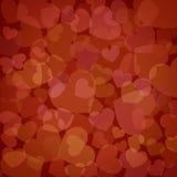 Hearts valentine's day background vector illustration