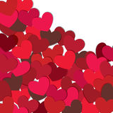 Hearts. Valentine's day card Stock Photography