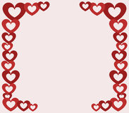 Hearts of Valentine`s Day illustrated Royalty Free Stock Photos
