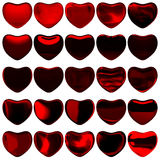 Hearts on Valentine's Day Royalty Free Stock Images