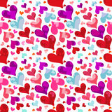 Hearts on Valentine's Day seamless pattern Royalty Free Stock Photo