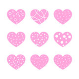 Hearts for the Valentine`s day. Vector illustration. Royalty Free Stock Photo
