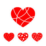 Hearts for the Valentine`s day. Vector illustration. Stock Image
