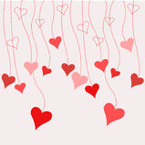 Hearts valentine's icons, wallpaper Royalty Free Stock Photography