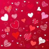 Hearts valentine's icons, wallpaper Stock Photography