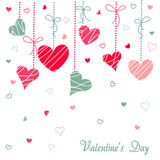 Hearts valentine's icons, wallpaper Stock Images