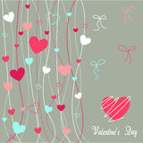 Hearts valentine's icons, wallpaper Royalty Free Stock Image