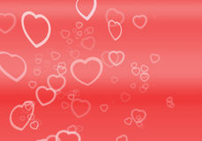 Hearts For Valentines. A lot of hearts, nice Valentines background Royalty Free Illustration