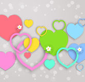 vector hearts for Valentines day Stock Images