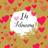 Hearts for Valentines Day Background Stock Photo