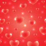 Hearts for Valentines Day Background Design Stock Images