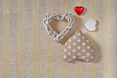 Hearts Valentines day. Four hearts for Valentine day Stock Photos