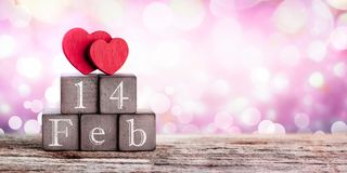 Hearts on Valentines Day royalty free stock photo