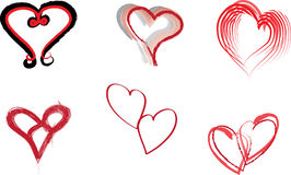 Hearts. Various heart shapes in vector format Stock Photo