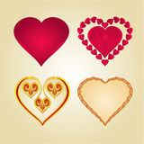 Hearts of various shapes vector Stock Photo