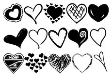Hearts vector Stock Photos