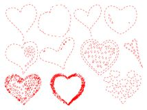 Hearts vector Stock Images