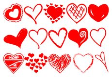 Hearts vector Royalty Free Stock Photos