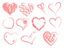 Hearts vector Royalty Free Stock Images