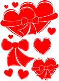 Hearts, vector. Hearts on white, vector illustration Stock Photography