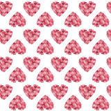 Hearts Vector Background. Heart vector background, seamless texture Royalty Free Stock Images