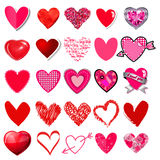 Hearts vector big set on a white background. EPS Stock Photography