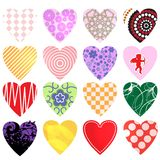 Hearts vector collection. Valentine's day Royalty Free Stock Image