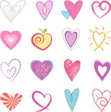 Hearts  Vector Illustration. Hearts Valentines Day Vector Illustration Royalty Free Stock Photos