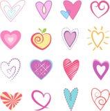 Hearts  Vector Illustration Royalty Free Stock Photos