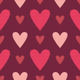 Hearts vector seamless pattern Stock Photos