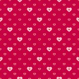 Hearts vector seamless pattern. Love Valentines day background. Red and pink. Hearts vector seamless pattern. Valentines day background. Abstract geometric red stock illustration