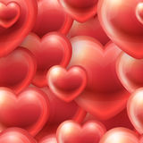 Hearts Vector Seamless Pattern Stock Photography