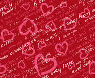 Valentine's day seamless pattern. Hearts vector seamless pattern wallpaper vector illustration