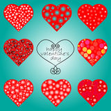 Hearts vector set. Hearts set. Valentine day. vector eps 10 Royalty Free Stock Photos