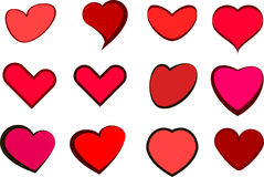 Hearts vector Royalty Free Stock Photo