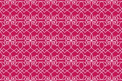 Hearts Victorian Wallpaper Seamless Pattern. Abstract interlaced hearts detailed victorian wall wallpaper background. Seamless pattern Royalty Free Stock Images