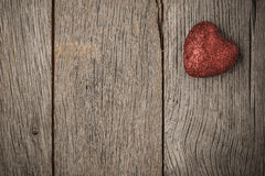 Hearts on Vintage Wood Background royalty free stock photo