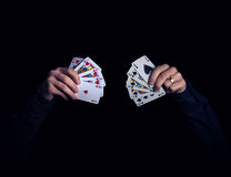 Hearts vs spades Royalty Free Stock Image