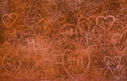 Hearts on the wall Royalty Free Stock Photography