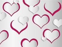 Hearts wallpaper Royalty Free Stock Photo
