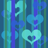 Hearts wallpaper (bluel) Royalty Free Stock Photography