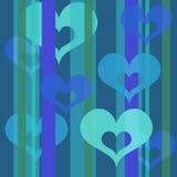 Hearts wallpaper (bluel) Royalty Free Stock Photography