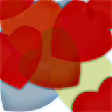 Hearts wallpaper Stock Photo