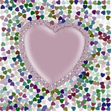 Colourful hearts wallpaper Royalty Free Stock Image