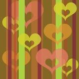 Hearts wallpaper (lime) Stock Photos