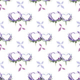 Hearts watercolor floral and romantic pattern vector illustration
